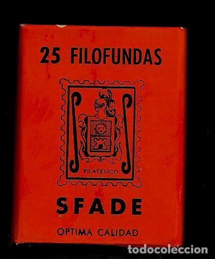 25 FILOFUNDAS O FILOESTUCHES - SFADE - 41 X 30 - FONDO NEGRO (Sellos - Material Filatélico - Estuches)
