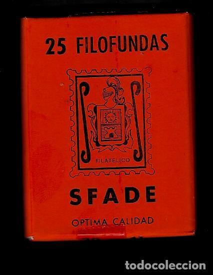 25 FILOFUNDAS O FILOESTUCHES - SFADE - 30 X 41 - FONDO NEGRO (Sellos - Material Filatélico - Estuches)