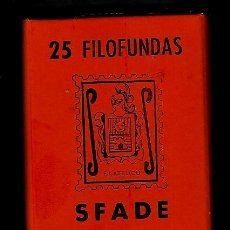 Sellos: 25 FILOFUNDAS O FILOESTUCHES - SFADE - 30 X 41 - FONDO NEGRO. Lote 211486820