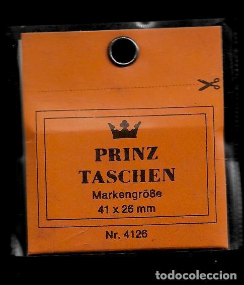 25 FILOESTUCHES - 41 X 26 - FONDO NEGRO - PRINZ (Sellos - Material Filatélico - Estuches)