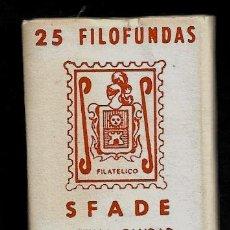 Sellos: 25 FILOFUNDAS O FILOESTUCHES - SFADE - 41 X 30 - TRANPARENTE. Lote 211500859