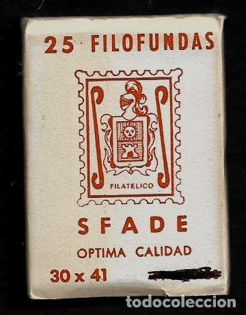 25 FILOFUNDAS O FILOESTUCHES - SFADE - 30 X 41- TRANPARENTE (Sellos - Material Filatélico - Estuches)