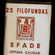 Sellos: 25 FILOFUNDAS O FILOESTUCHES - SFADE - 41 X 26 - TRANPARENTE. Lote 211501030