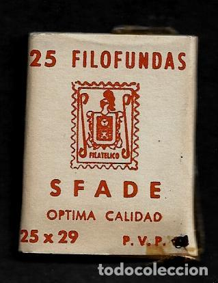 25 FILOFUNDAS O FILOESTUCHES - SFADE - 25 X 29 - TRANPARENTE (Sellos - Material Filatélico - Estuches)