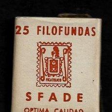 Sellos: 25 FILOFUNDAS O FILOESTUCHES - SFADE - 25 X 29 - TRANPARENTE. Lote 211501131