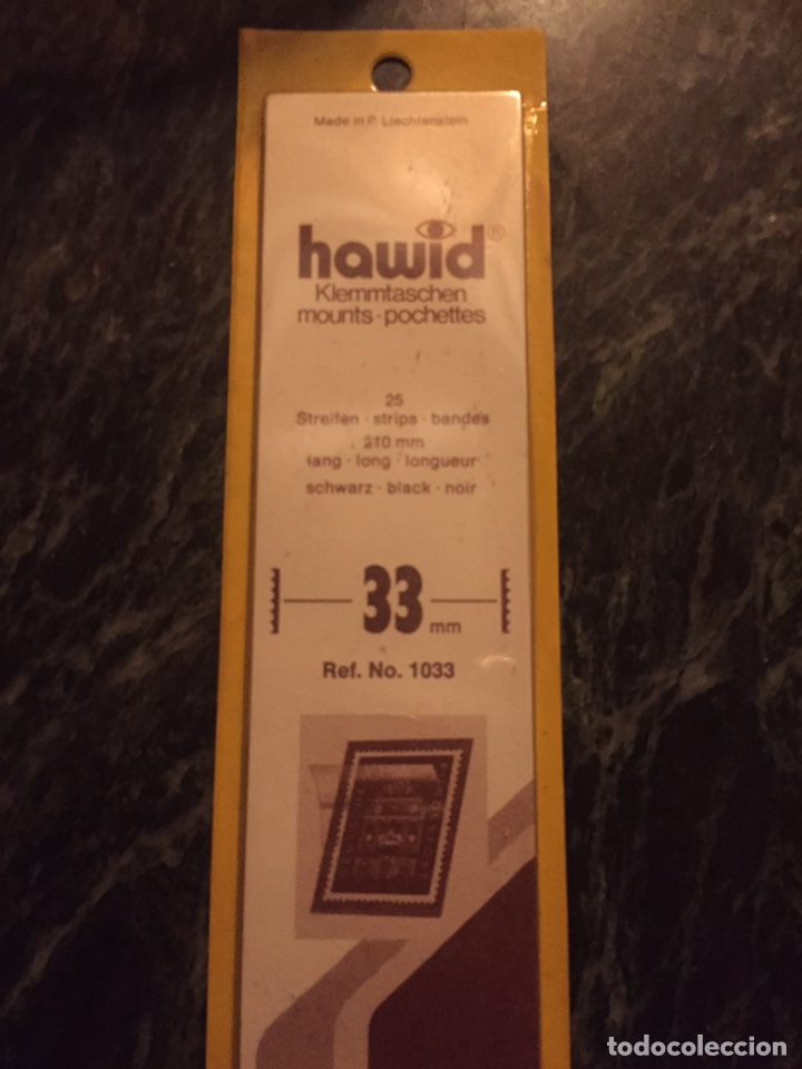 PROTECTOR FILOESTUCHE HAWID 33/210MMM (25 TIRAS) NEGRO (Sellos - Material Filatélico - Estuches)