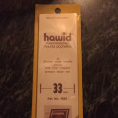 Sellos: PROTECTOR FILOESTUCHE HAWID 33/210MMM (25 TIRAS) NEGRO. Lote 222353652