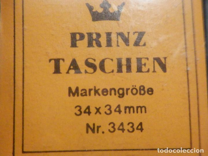 Sellos: FILOESTUCHES - 34 x 34 mm - 25 unidades - FONDO NEGRO - PRINZ Taschen - West Germany - Foto 3 - 249603385
