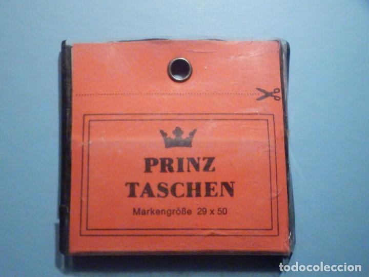 FILOESTUCHES - 29 X 50 MM - 25 UNIDADES - FONDO NEGRO - PRINZ TASCHEN - WEST GERMANY (Sellos - Material Filatélico - Estuches)
