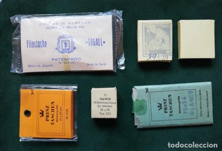 FILOESTUCHES NUEVOS, OPORTUNIDAD, ORIGINAL DE LOS 70S, MONTURAS (Sellos - Material Filatélico - Estuches)