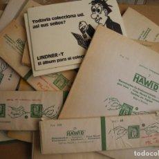 Sellos: 15 ESTUCHES HAWID DE DIFERENTES MEDIDAS. LA MAYORIA INCOMPLETOS. 570G. Lote 276056063