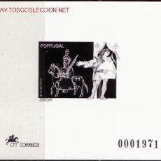 Sellos: PORTUGAL HB 101 PRUEBA EN NEGRO*** - AÑO 1994 - EUROPA - LOS DESCUBRIMIENTOS. Lote 16374405