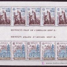 Sellos: MÓNACO HB 13*** - AÑO 1977 - EUROPA - MONUMENTOS. Lote 25615351