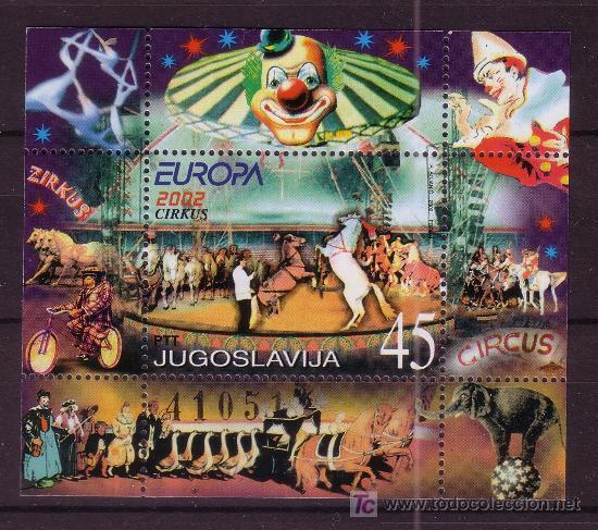 YUGOSLAVIA HB 54** - AÑO 2002 - EUROPA - EL CIRCO (Sellos - Temáticas - Europa Cept)
