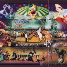 Sellos: YUGOSLAVIA HB 54** - AÑO 2002 - EUROPA - EL CIRCO. Lote 24487244