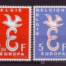 Sellos: BÉLGICA 1064/65*** - AÑO 1958 - EUROPA. Lote 113157300