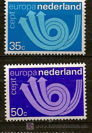 HOLANDA,EUROPA CEPT,AÑO 1973,SERIE COMPLETA,NUEVA CON GOMA. (Sellos - Temáticas - Europa Cept)