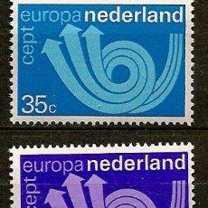 Sellos: HOLANDA,EUROPA CEPT,AÑO 1973,SERIE COMPLETA,NUEVA CON GOMA.. Lote 13797480
