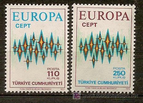 TURQUIA,EUROPA CEPT,AÑO 1972,SERIE COMPLETA,NUEVA CON GOMA. (Sellos - Temáticas - Europa Cept)