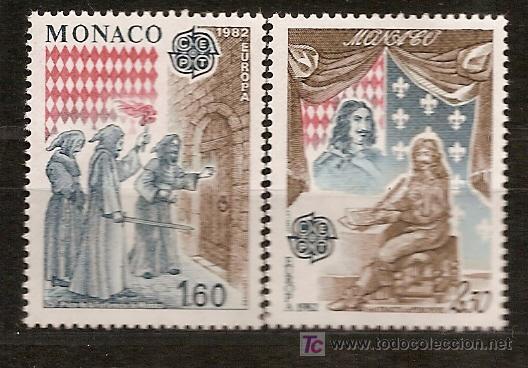 MONACO,EUROPA-CEPT 1982,SERIE COMPLETA,NUEVA CON GOMA. (Sellos - Temáticas - Europa Cept)