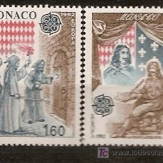 Sellos: MONACO,EUROPA-CEPT 1982,SERIE COMPLETA,NUEVA CON GOMA.. Lote 7909699