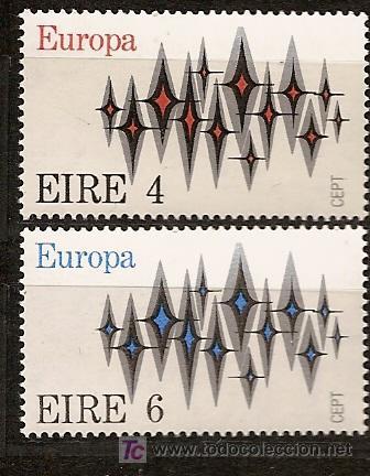 IRLANDA,EUROPA-CEPT 1972,SERIE COMPLETA,NUEVA CON GOMA. (Sellos - Temáticas - Europa Cept)