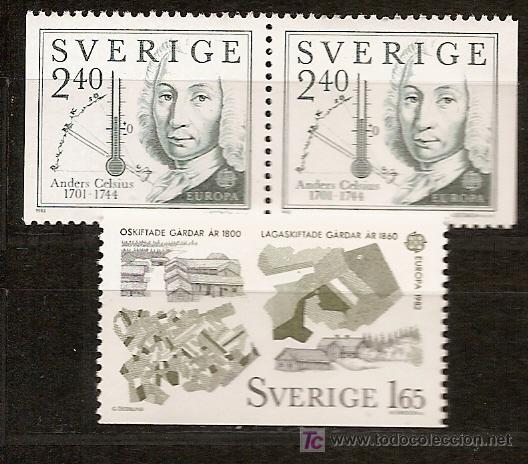 SUECIA,EUROPA-CEPT 1982,SERIE COMPLETA,NUEVA CON GOMA. (Sellos - Temáticas - Europa Cept)