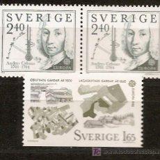 Sellos: SUECIA,EUROPA-CEPT 1982,SERIE COMPLETA,NUEVA CON GOMA.. Lote 7911283