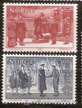 NORUEGA,EUROPA-CEPT 1982,SERIE COMPLETA,NUEVA CON GOMA. (Sellos - Temáticas - Europa Cept)