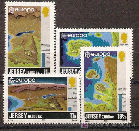 JERSEY,EUROPA-CEPT 1982,SERIE COMPLETA,NUEVA CON GOMA. (Sellos - Temáticas - Europa Cept)