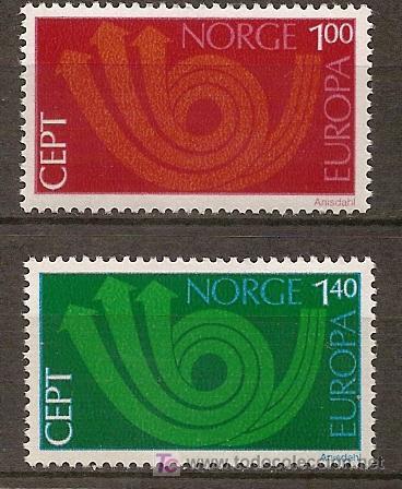 NORUEGA,EUROPA-CEPT 1973,SERIE COMPLETA,NUEVA CON GOMA. (Sellos - Temáticas - Europa Cept)