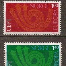 Sellos: NORUEGA,EUROPA-CEPT 1973,SERIE COMPLETA,NUEVA CON GOMA.. Lote 7916426