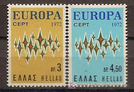 GRECIA.EUROPA-CEPT 1972,SERIE COMPLETA.NUEVA CON GOMA. (Sellos - Temáticas - Europa Cept)