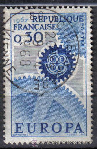 FRANCIA 1967 - 0,3 F YVERT 1521 - USADO (Sellos - Temáticas - Europa Cept)