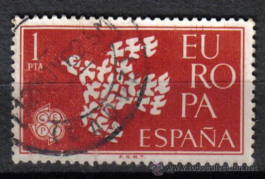ESPAÑA 1961 1 P EDIFIL 1371. RAPTO DE EUROPA POR ZEUS (Sellos - Temáticas - Europa Cept)