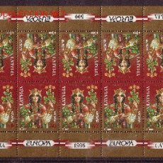 Sellos: LETONIA MP 372/73*** - AÑO 1995 - EUROPA - PAZ Y LIBERTAD. Lote 27461609