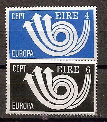 IRLANDA,EUROPA-CEPT 1973,SERIE COMPLETA,NUEVA CON GOMA. (Sellos - Temáticas - Europa Cept)