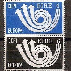 Sellos: IRLANDA,EUROPA-CEPT 1973,SERIE COMPLETA,NUEVA CON GOMA.. Lote 13458695