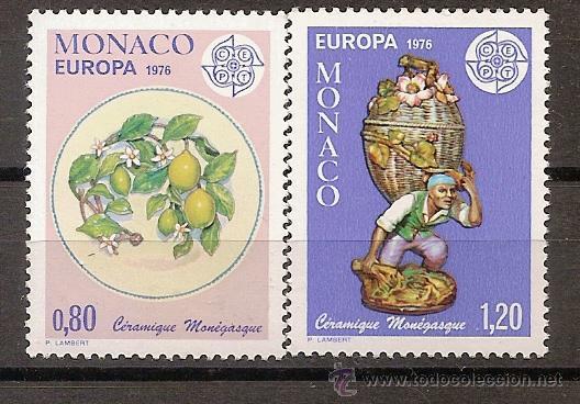 MONACO,EUROPA-CEPT 1976,SERIE COMPLETA,NUEVA CON GOMA. (Sellos - Temáticas - Europa Cept)
