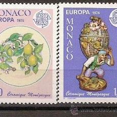 Sellos: MONACO,EUROPA-CEPT 1976,SERIE COMPLETA,NUEVA CON GOMA.. Lote 13458807