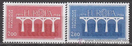 FRANCIA IVERT Nº 2309/10, EUROPA 1984, NUEVOS (Sellos - Temáticas - Europa Cept)