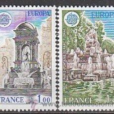 Sellos: FRANCIA IVERT Nº 2008/9, EUROPA 1978: FUENTES, NUEVO. Lote 25739005