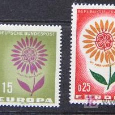 Sellos: EUROPA 1964 FRANCIA ALEMANIA SELLOS NUEVOS MNH VAR-13. Lote 19454046