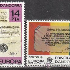 Sellos: ANDORRA EDIFIL Nº 157/8, EUROPA 82, NUEVO. Lote 25739026