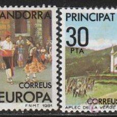Sellos: ANDORRA EDIFIL Nº 140/1, EUROPA 1981: FIESTAS POPULARES, NUEVO. Lote 19828105