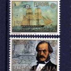 Sellos: SERIE COMPLETA DE YUGOSLAVIA AÑO 1982 YVERT NR.1804/05 EUROPA CEPT NUEVA. Lote 40704270
