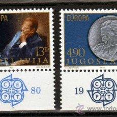 Sellos: SERIE COMPLETA DE YUGOSLAVIA AÑO 1980 YVERT NR.1711/12 EUROPA CEPT NUEVA. Lote 19829558