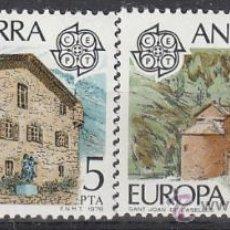 Sellos: ANDORRA EDIFIL Nº 117/8, EUROPA 1978, CASA DE LOS VALLES Y SAN JUAN DE CASELLAS, NUEVO. Lote 25739017