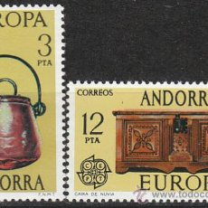 Sellos: ANDORRA EDIFIL Nº 102/3, EUROPA 1976, NUEVO. Lote 19839614