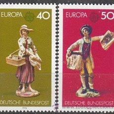 Sellos: ALEMANIA IVERT Nº 0739/40, EUROPA 1976, PORCELANA DE LUDWIGSBURG, NUEVO. Lote 20559256